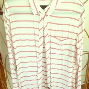 Rails Large horizontal stripe blouse. EUC